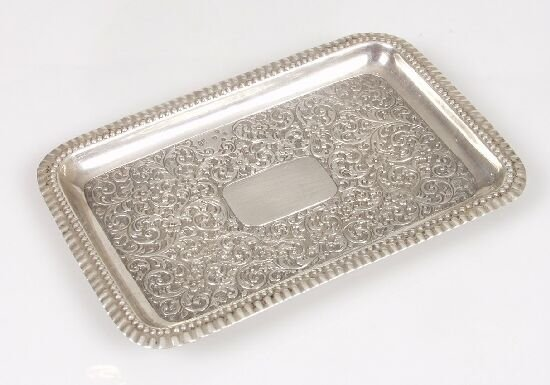 2004: Victorian pin tray with pie crust rim a