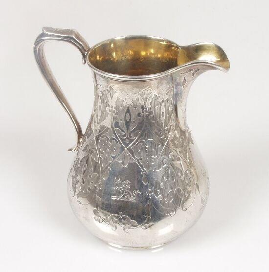 2008: A Victorian cream jug of bulbous form w