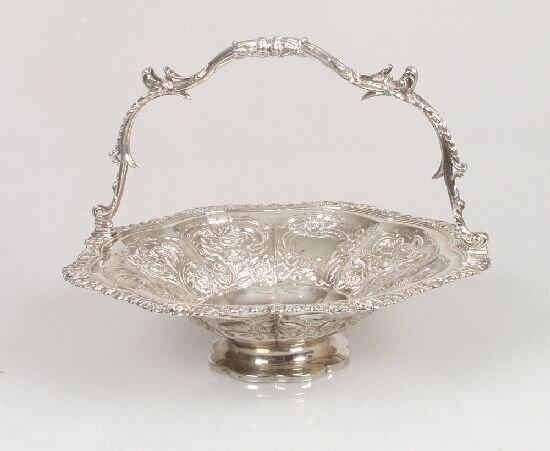 2016: A late George III bread basket, embosse