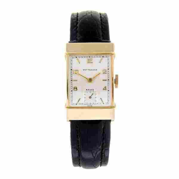 WITTNAUER - a gentleman's wrist watch. Yellow metal