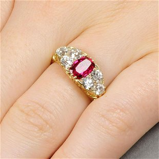 A late Victorian 18ct gold diamond Masonic ring  The - Jan