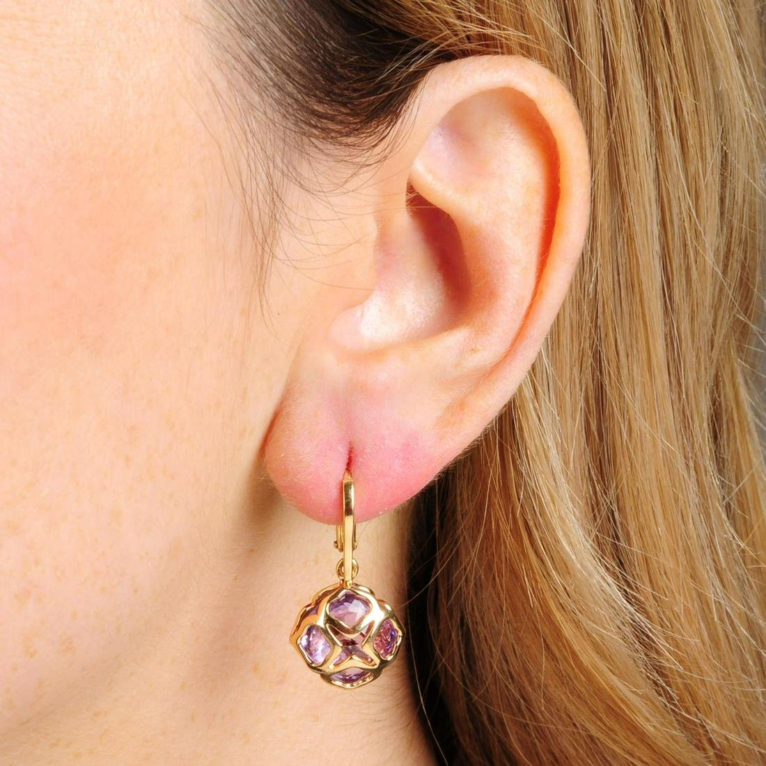 A pair of 18ct gold amethyst 'Imperiale Cocktail'