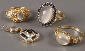 722: Four items of jewellery, to include three 9ct gold
