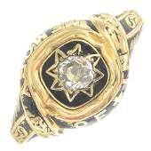 An early Victorian 18ct gold old-cut diamond and black
