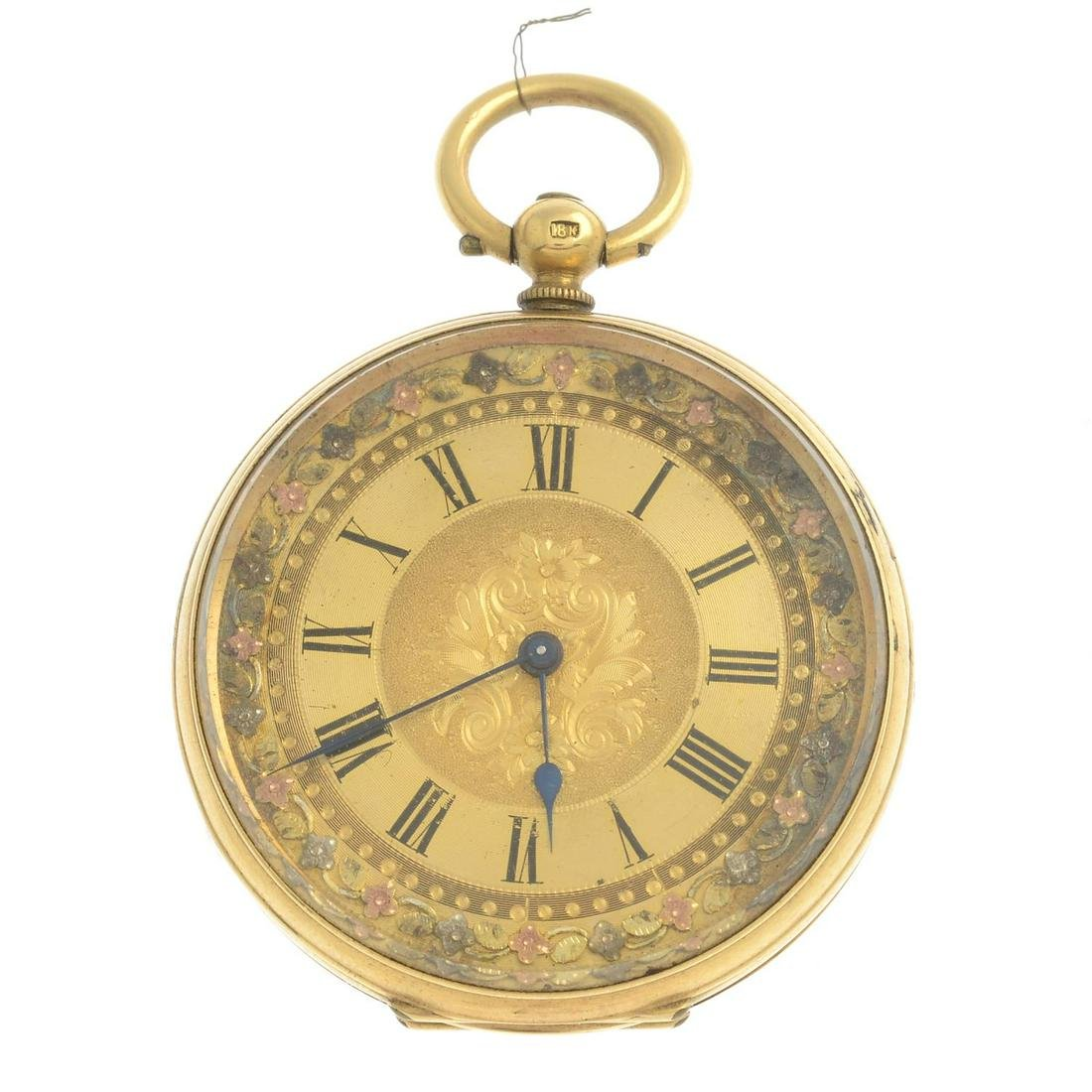 A late 19th century 18ct gold pocket watch and seven