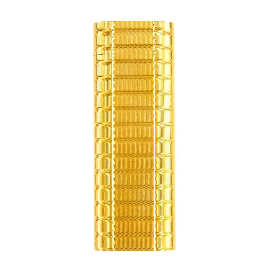 CARTIER - a gold plated lighter. With engine turned