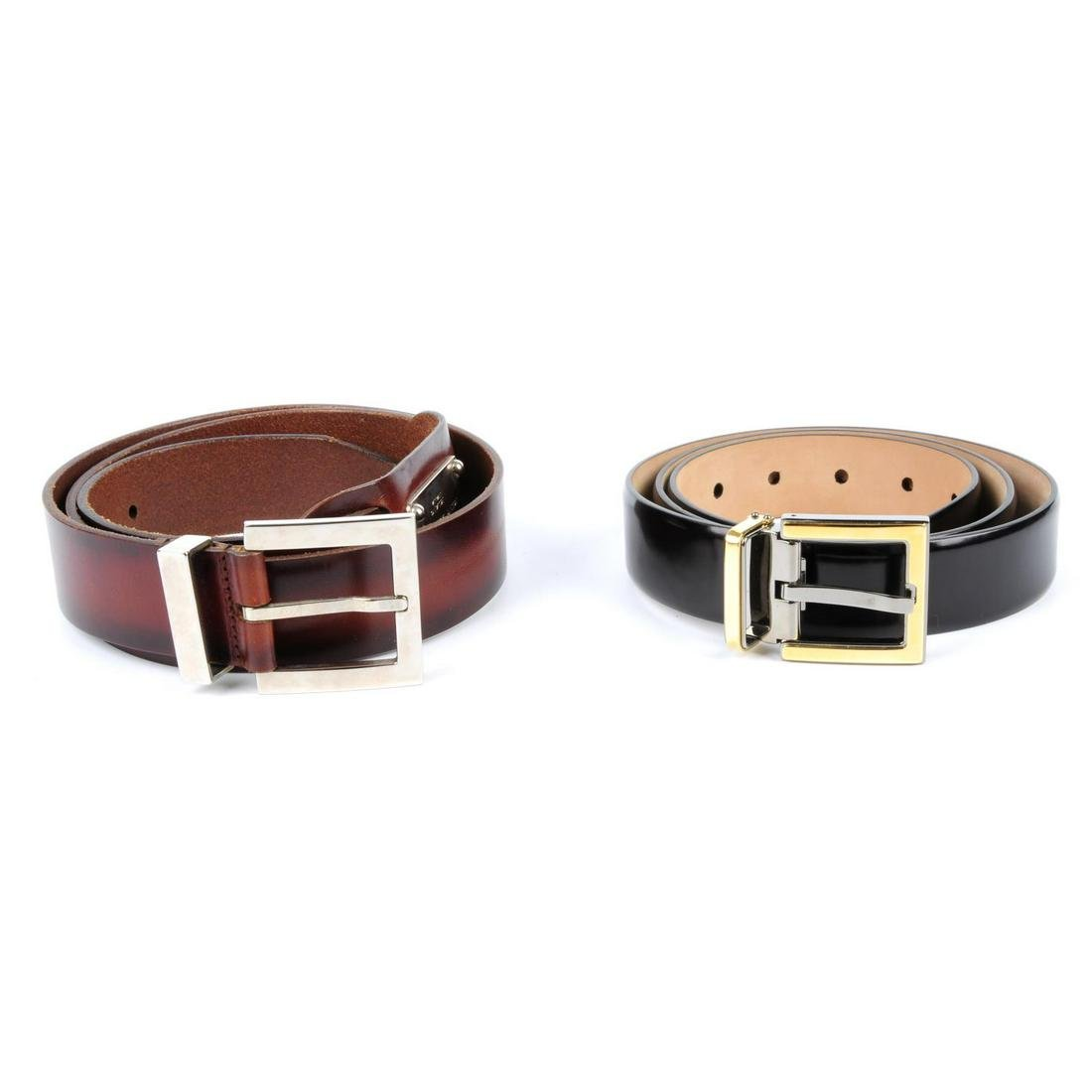 DOLCE & GABBANA - two belts. To include a polished