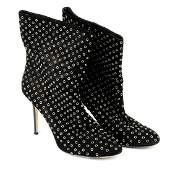 JIMMY CHOO - a pair of ladies high heeled ankle boots.
