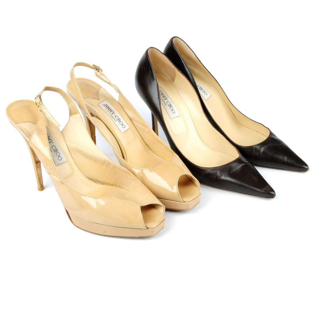 JIMMY CHOO - four pairs of ladies shoes. To include two