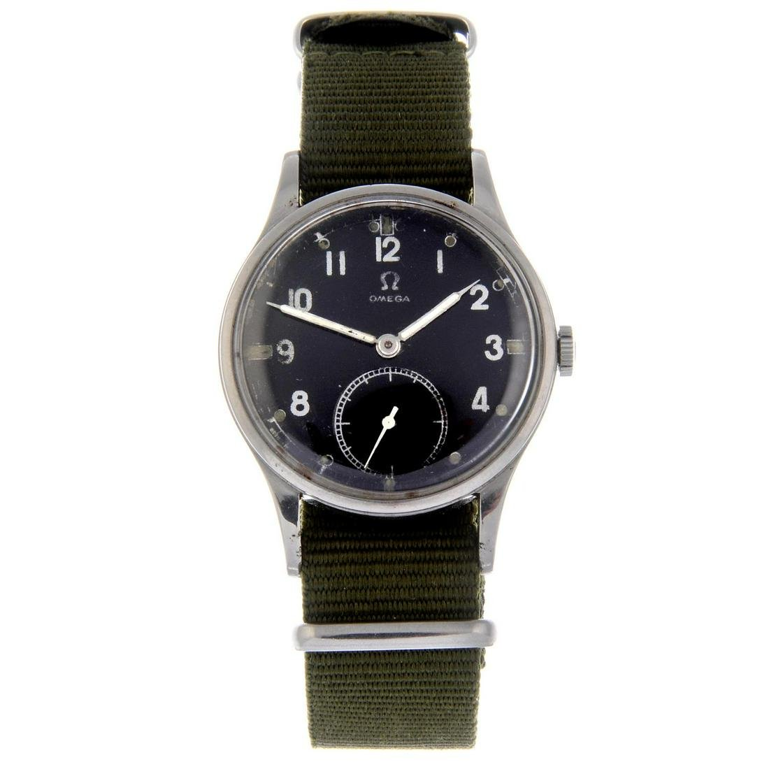 OMEGA - a military issue wrist watch. Stainless steel