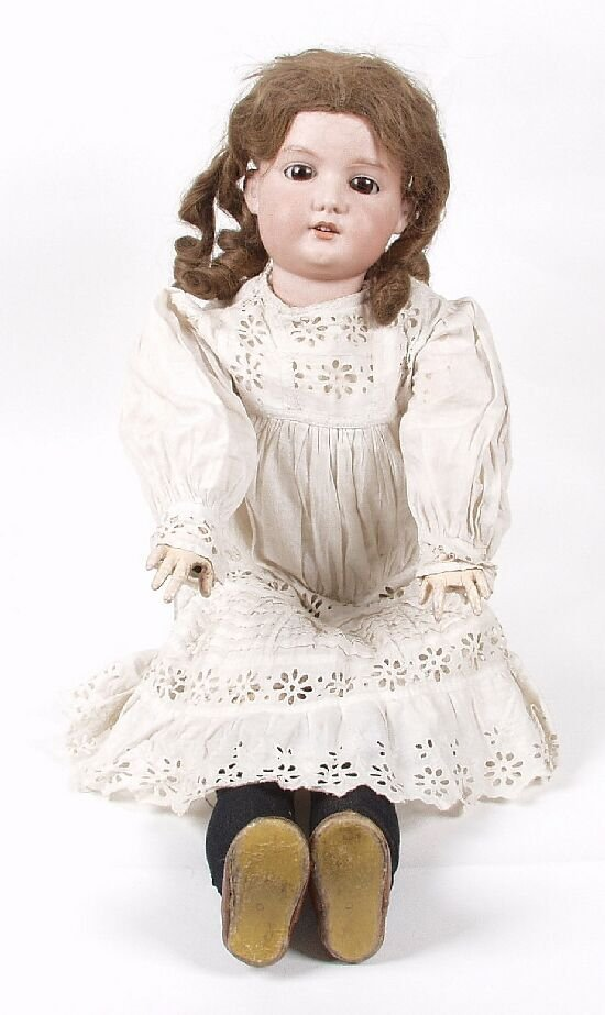 4: An Armand Marseille bisque headed doll mod
