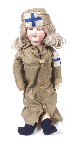 An Armand Marseille bisque headed doll, mo