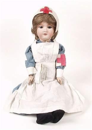 An Armand Marseille bisque headed doll mod