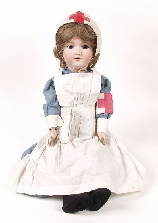 6: An Armand Marseille bisque headed doll mod