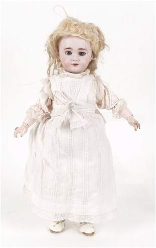 A D.E.P. bisque headed doll modelled as a