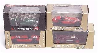 155: Four boxed Brumm die cast model racing c