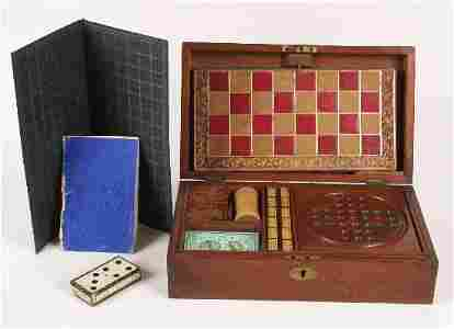 557: A good late 19th century mahogany cased