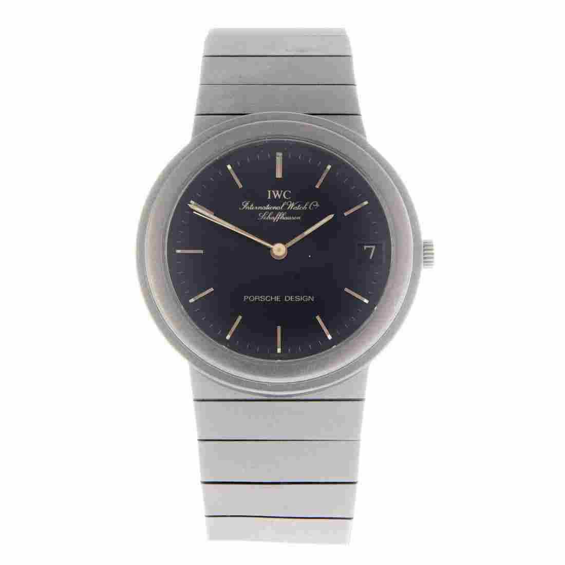 IWC - a gentleman's Porsche Design bracelet watch.