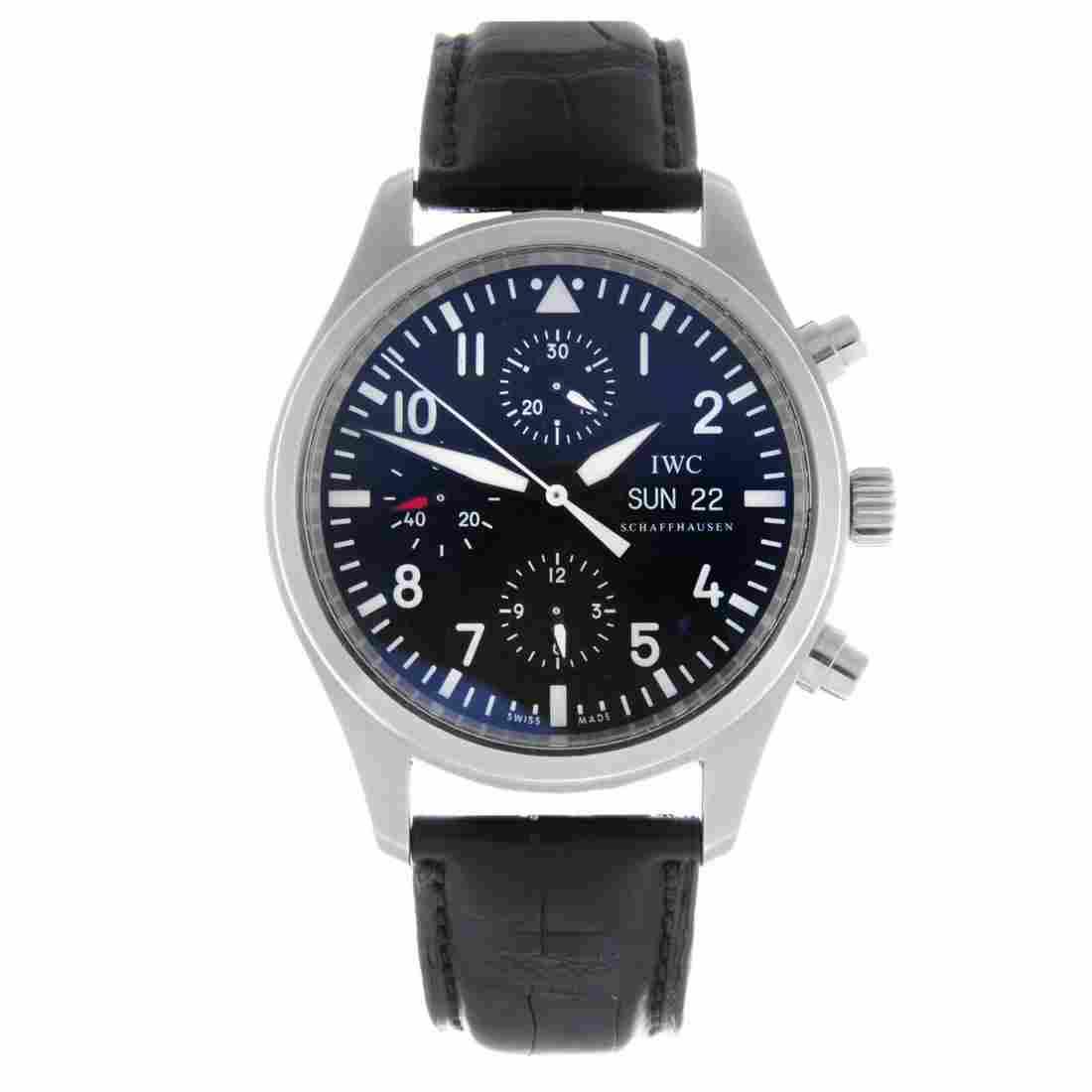 IWC - a gentleman's Pilot's chronograph wrist watch.