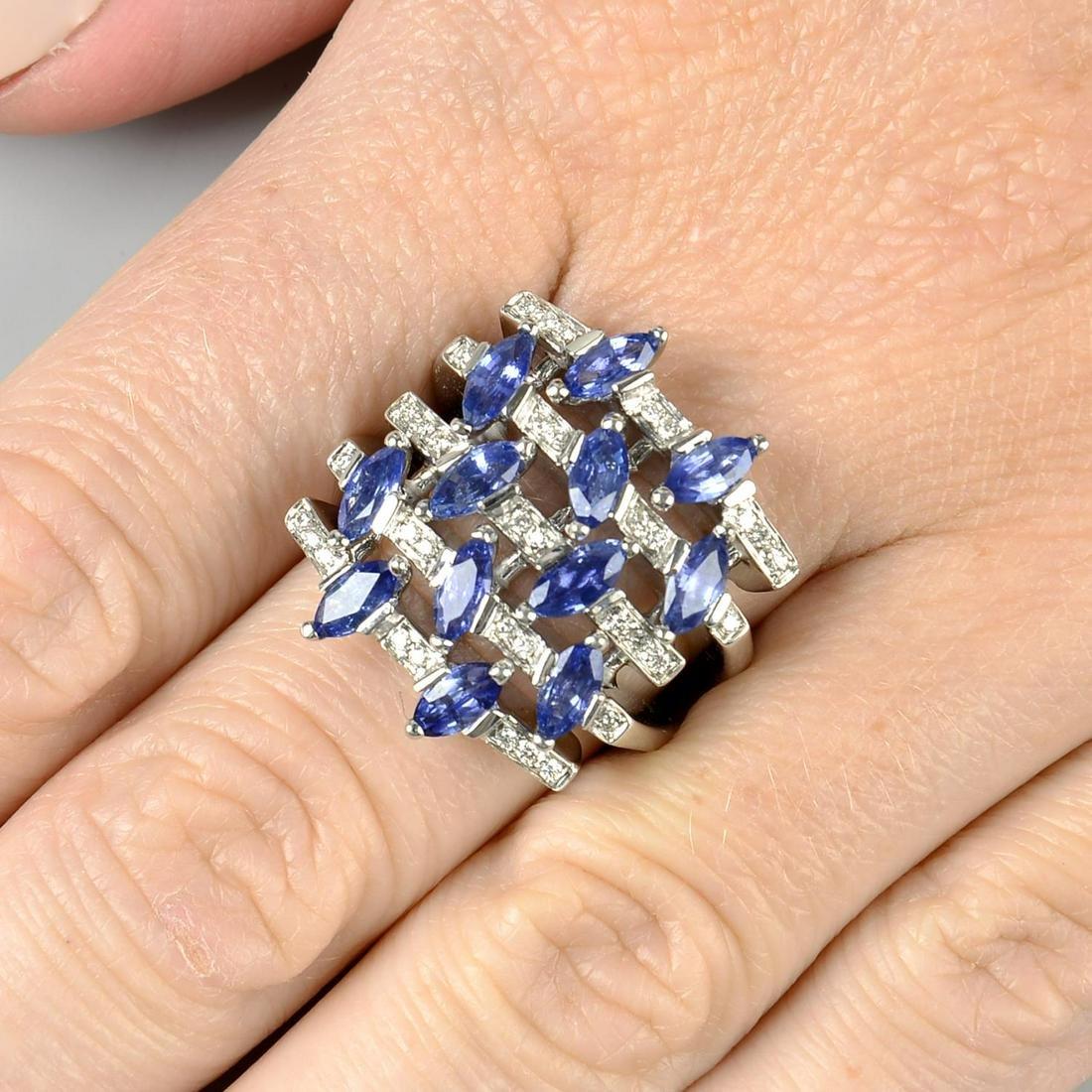 A sapphire and diamond dress ring, by Alfieri & St.