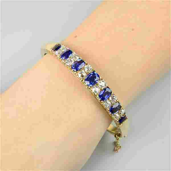 A late Victorian 15ct gold Burmese sapphire and diamond