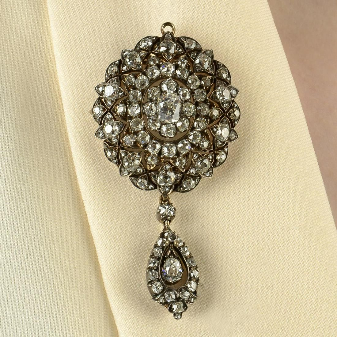 A late Victorian silver and gold rose-cut diamond