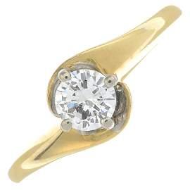 An 18ct gold brilliant-cut diamond single-stone