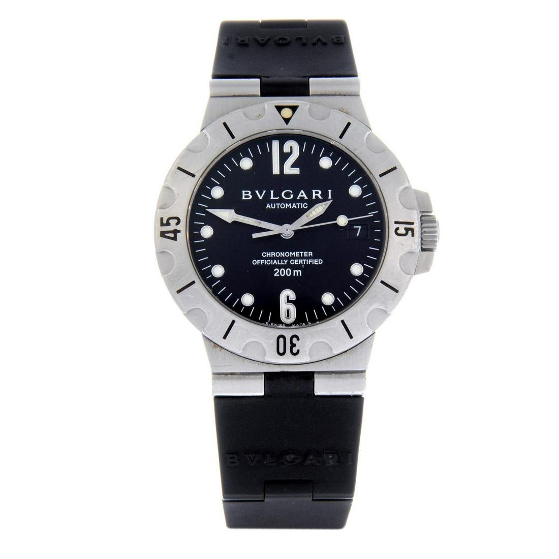 BULGARI - a gentleman's Diagono Scuba wrist watch.