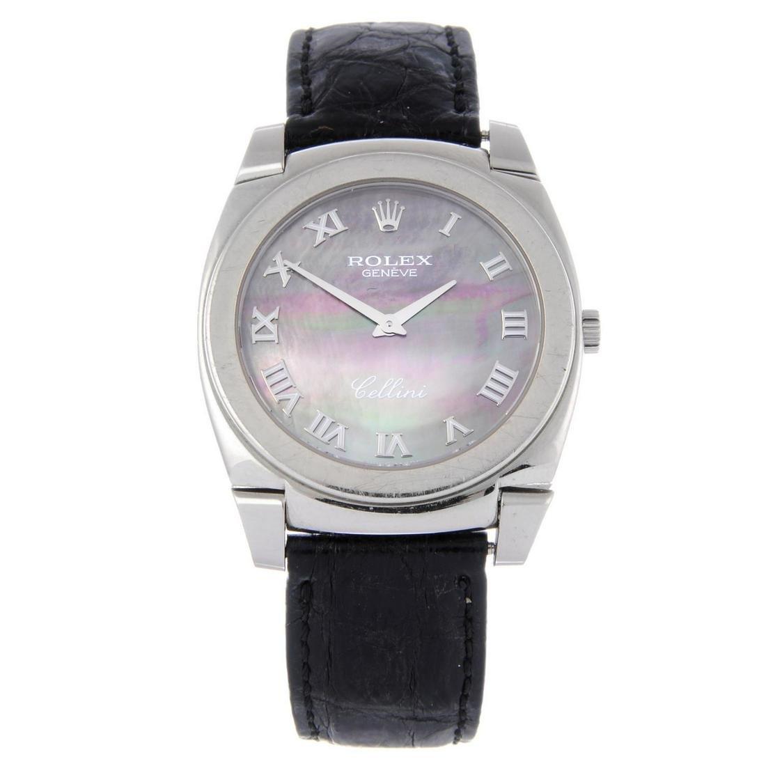 ROLEX - a gentleman's Cellini wrist watch. Circa 2001.