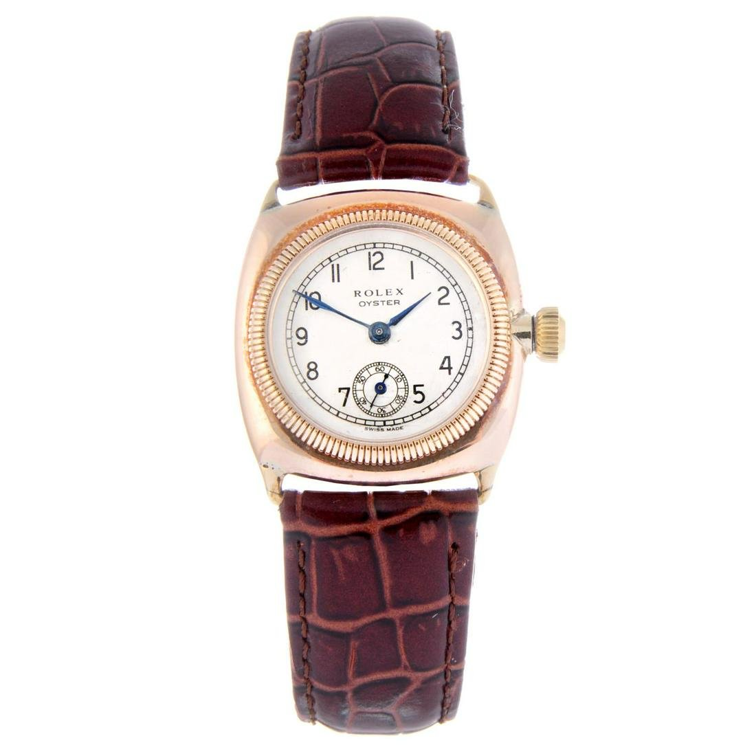 ROLEX - a gentleman's Oyster wrist watch. 9ct rose gold