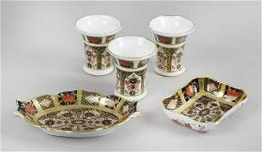 A selection of seven pieces of Royal Crown Derby Old
