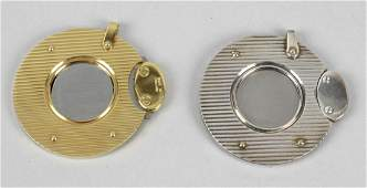 Two Dunhill cigar cutters the first gold plated