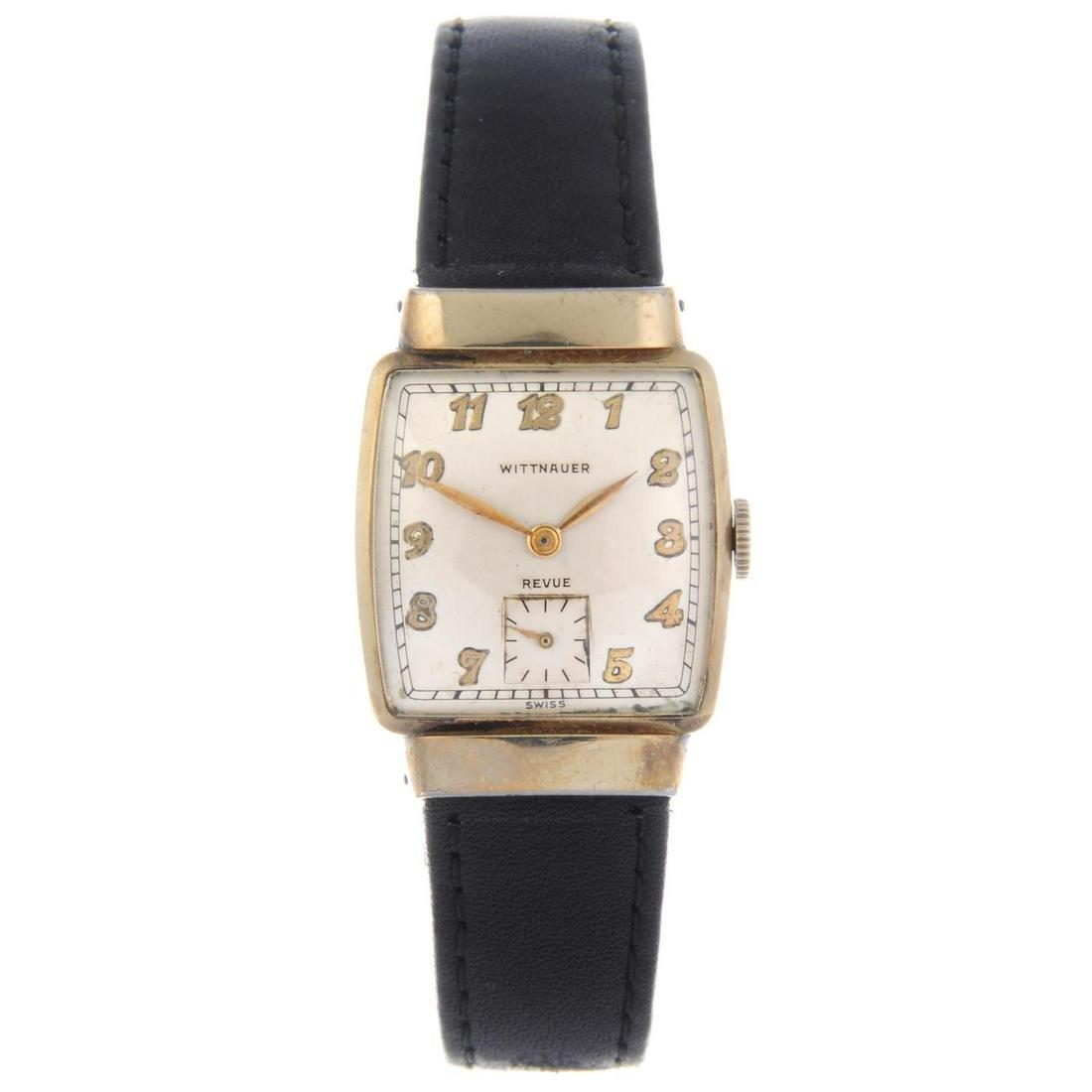 WITTNAUER - a gentleman's wrist watch. Gold filled