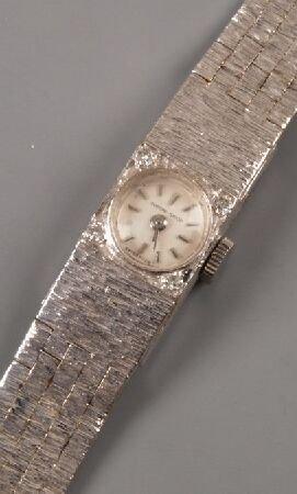 1008: BEUCHE GIROD - lady's 1960's 9ct white gold integ