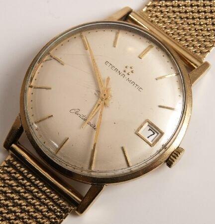 1023: ETERNA - 9ct gold automatic gentleman's wristwatc
