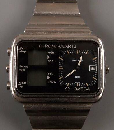 1070: OMEGA - gentleman's steel cased 1970's  Chrono-Qu