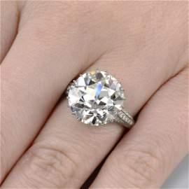 An impressive platinum old-cut diamond single-stone