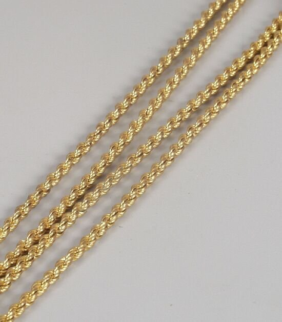 1014: Victorian gold rope link guard chain of
