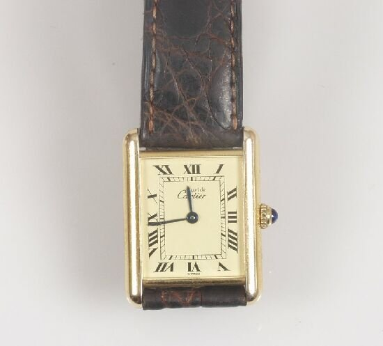 2012: Cartier - ladies silver gilt must de Ca
