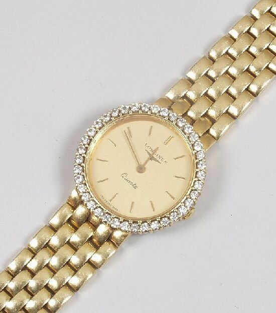 2047: LONGINES - a lady's recent 18ct yellow