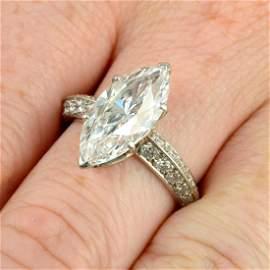An impressive platinum marquise-shape diamond