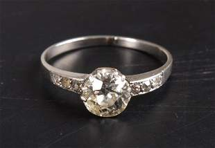 European old cut cushion shape old cut diamond ring