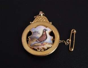1920's 9ct gold brooch/pendant (originally a presen
