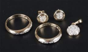 109: Four items of jewellery, to include two 9ct gold s