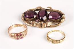 737 Three items of jewellery to include Victorian pur