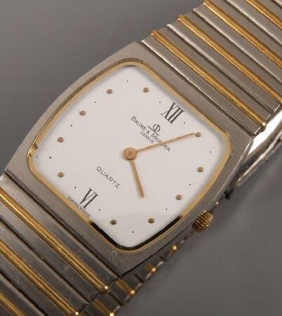 1003: BAUME & MERCIER - gentleman's bi-colour bracelet