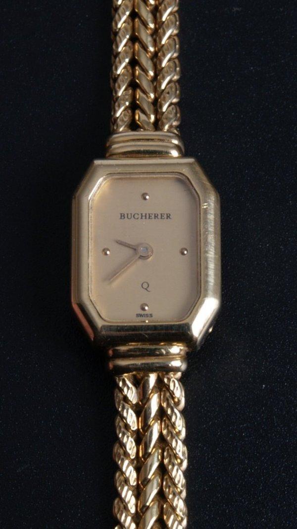 1005: BUCHERER - a ladies 18ct gold dress watch the rec