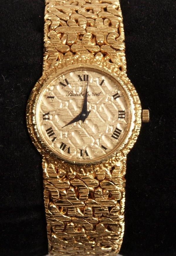 1006: BEUCHE GIROD - 18ct gold ladies manual wrist watc