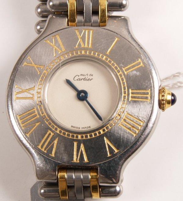 1015: CARTIER - Must De Cartier steel bi-coloured ladie
