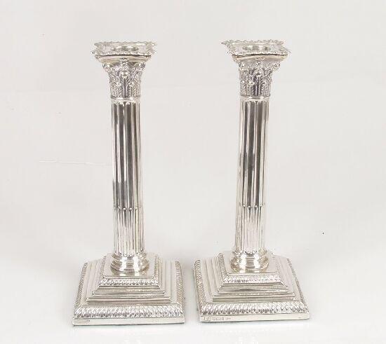 2006: A pair of Edwardian Corinthian column c